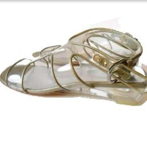 Stuart Weitzman Vintage Lucite Clear Sandals 8.5